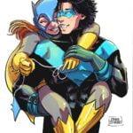 Illustrations_NightwingBatgirl_color